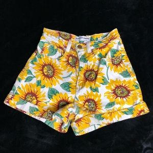 High-wasted American Apparel Sunflower Shorts